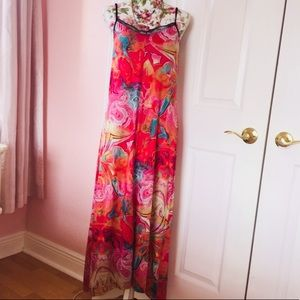Nicole Miller colorful maxi